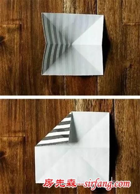 折纸圆圈的方法图解 手工折纸飞镖的折法教程