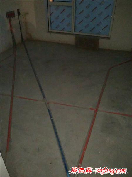 表姐夫拉我去看装修水电做好了,一进门又看到了新景象