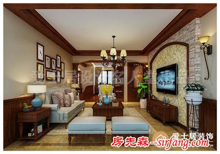 融科城122㎡四室两厅装修效案例 客厅装修美翻全城
