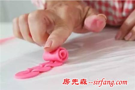 超轻粘土玫瑰花教程 简单手工粘土玫瑰花制作