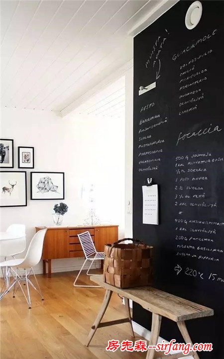 家居黑板墙创意图