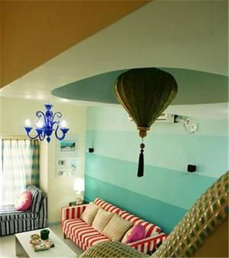 地中海混搭温馨田园 45平小复式也能隔出3房2厅