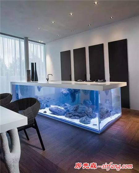 你家的小鱼缸已经out了,看下别人是怎么养鱼的!