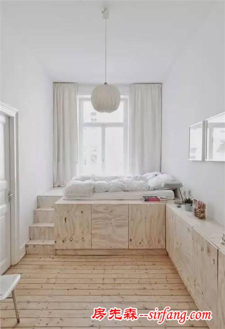 这样装修卧室,床和衣柜都省了图片