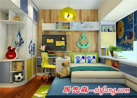儿童房榻榻米床装修效果图