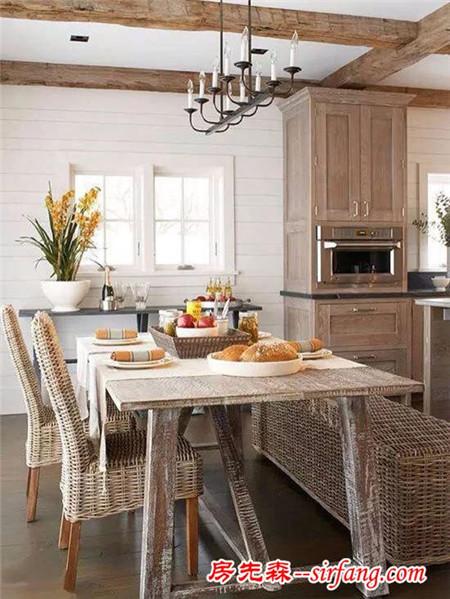 6款美式木质餐桌 乡村风情