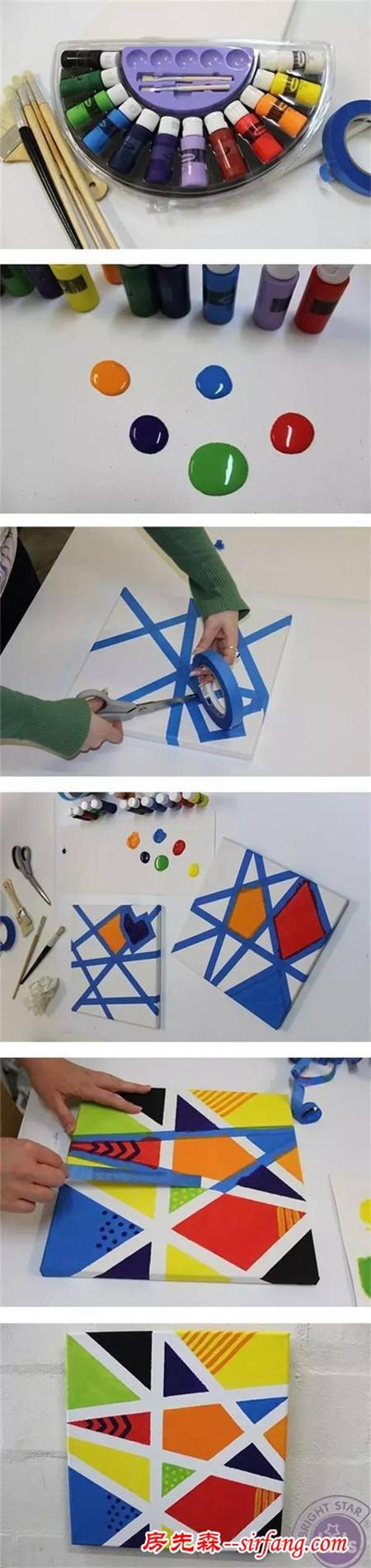 幼儿园亲子手工之装饰画,粘贴画,指印画,胶带画,涂鸦画都在这