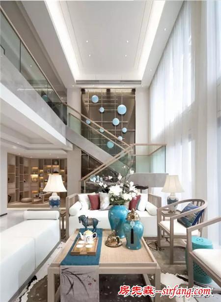 384平新中式风格,清新素雅的生活住宅