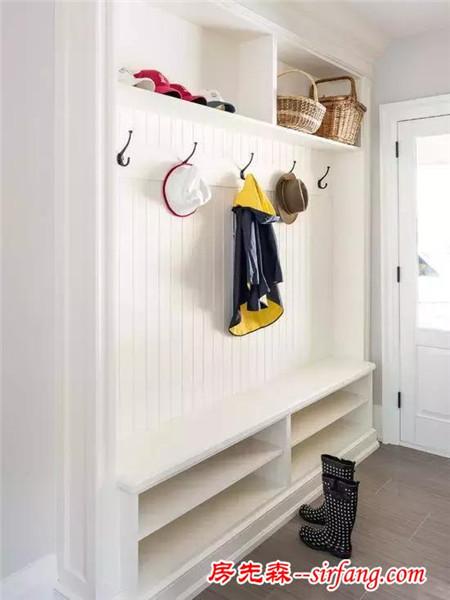 这么美的玄关鞋柜设计,进门就让人一见倾心!