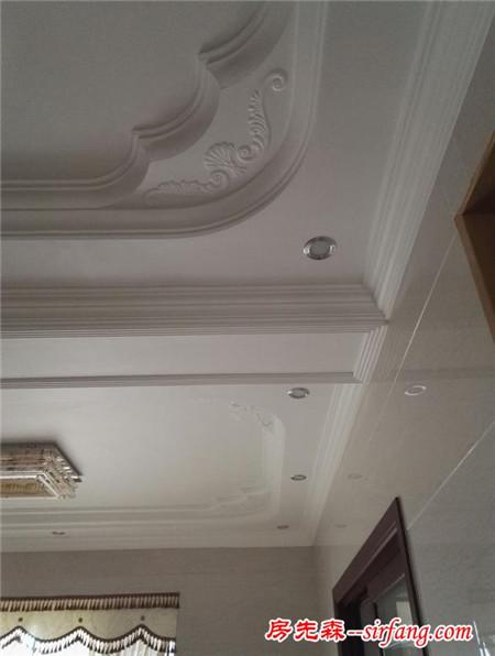 装修豪房天花不吊顶,只做石膏线也是美美的!