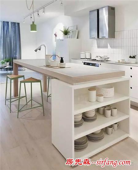 你所爱的开放式厨房,必须一定要有岛台!