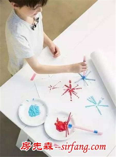 幼儿园亲子手工之元旦手工,用这7种废旧材料做出炫丽的烟火涂鸦