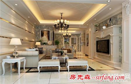 装修攻略 装修经验 正文    欧式客厅装修效果图三:    姜黄色的转角