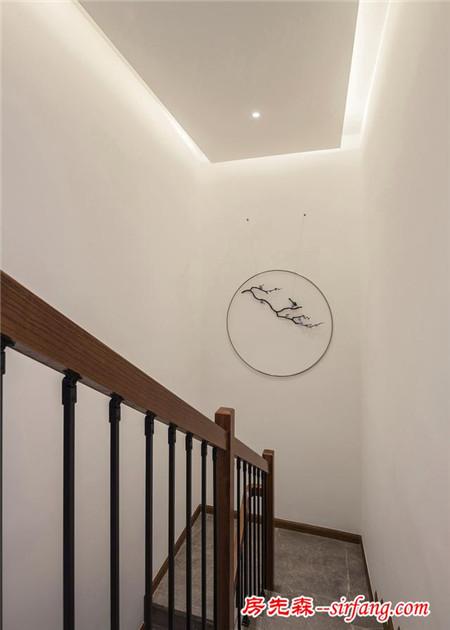 175平新中式装修,阳台变茶室,采光好,设计妙