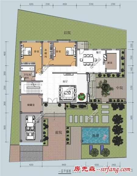 8米x11米    建筑面积:222平方米    户型四    占地尺寸:17.