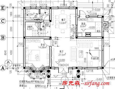 第三套别墅设计: 占地面积:215.83平方米; 建筑面积:569.36平方米