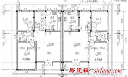 二层别墅设计图:客厅,阳台,卧室,卧室,主卧室,卫生间,楼梯间
