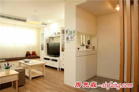 虽然房子小,但墙砖贴得美到没sei了!