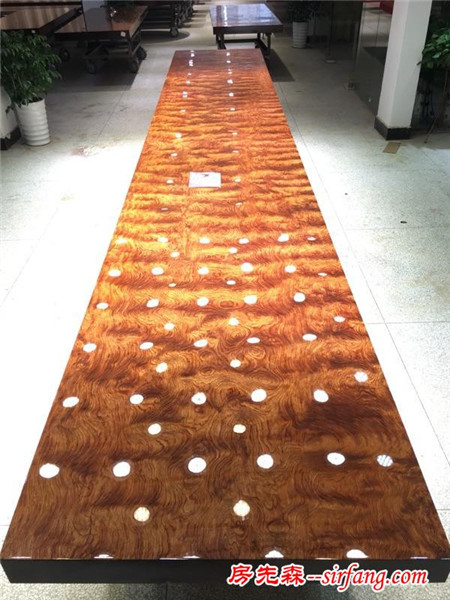 实木大板,之巴花极品纹路,整体满水波