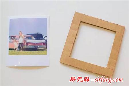 幼儿园亲子手工之相框制作,用纸胶带,树枝,纸皮就能做出美美的图片