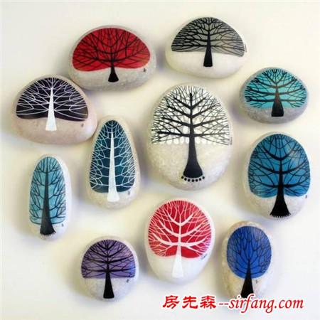 创意石头画,为冬天的幼儿园增添一抹颜色!