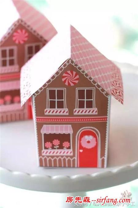 幼儿园亲子手工之牛奶盒的旧物改造 这些房子和礼盒都很漂亮