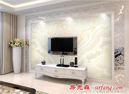 20款最热门欧式仿大理石客厅电视背景墙,奢华盛饰!