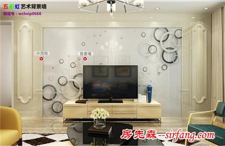 简约现代客厅电视墙雕刻微晶石影视墙,律动生活