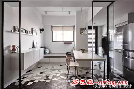 69平的黑白公寓,不一样的小清新!