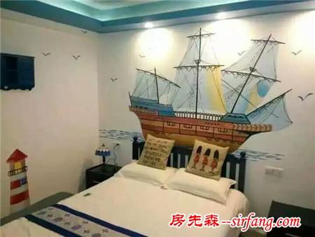 三个卧室三种不同风格,尤其是主卧引来整个小区的赞美!