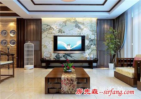 雅魅新中式:四室两厅,客厅的装修很喜欢~