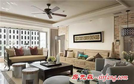 """160平四室两厅,享受淡雅的""""古典""""魅力"""