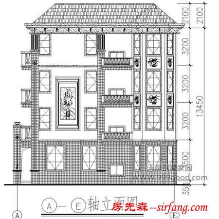 农村四层自建房设计图,13.1x13.9米至美阔气的舒适享受