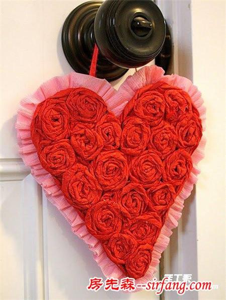 皱纹纸玫瑰花的折法教程