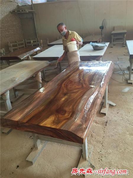 揭秘:你没有见过的实木大板制作流程