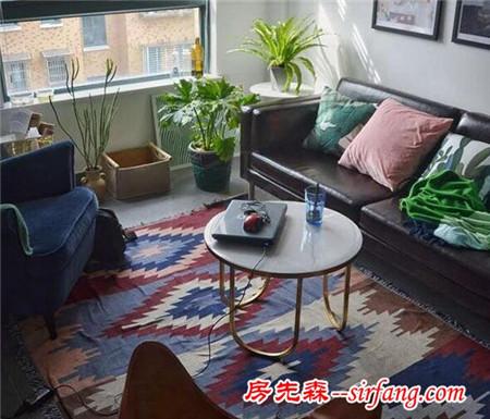 用一块民族风的地毯,给你的房间提提气。