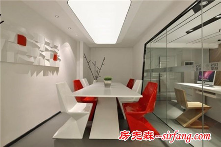 Loft新演绎,跳跃灵动的办公样板房设计