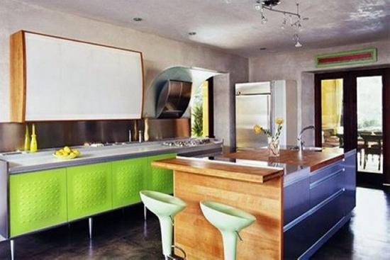 16款室内装饰 清新绿色厨房设计