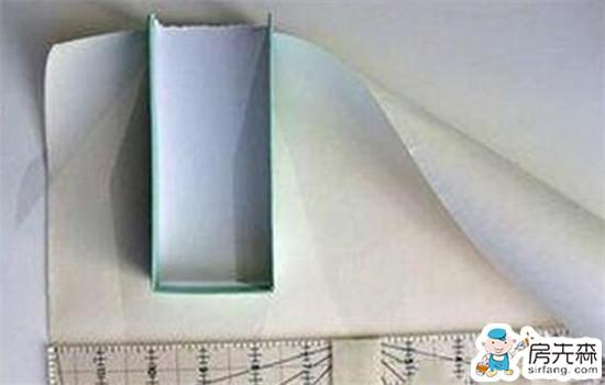 将废物利用起来 用纸箱做收纳盒方法