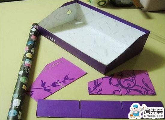 鞋盒变身时尚化妆盒 化妆品收纳盒制作