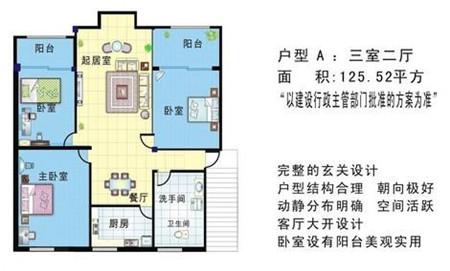 装修经验 正文    户型图是家庭住房的平面图,一般买房都会看看户型图