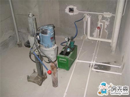 卫生间下水管道安装_水电工程_房先森互联网家装