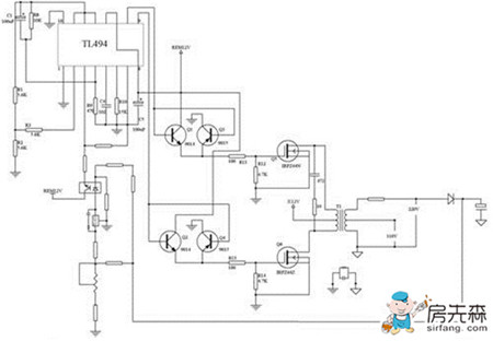 逆变器电路图 各图对应讲解齐全