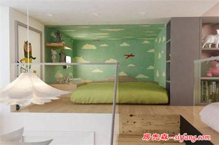 用故事装扮儿童房手绘墙