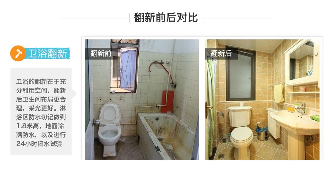 卫生间翻新前后对比图