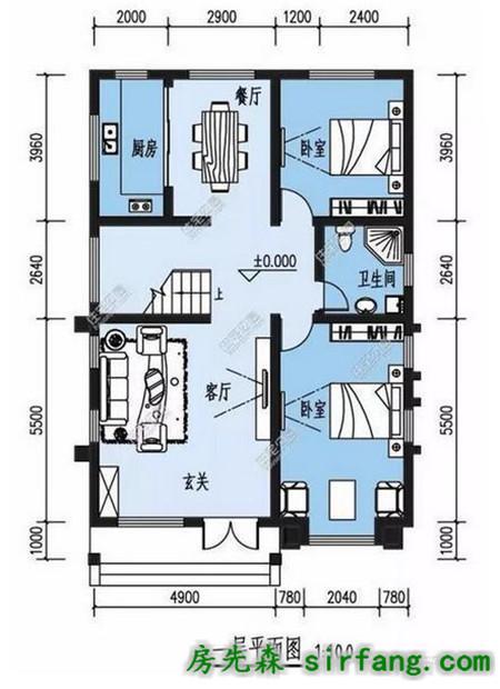 6.5x13.1米精美自建房,面宽小也可以很漂亮!_装修设计