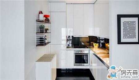 56平小戶型現代風格公寓長方形戶型的設計案例