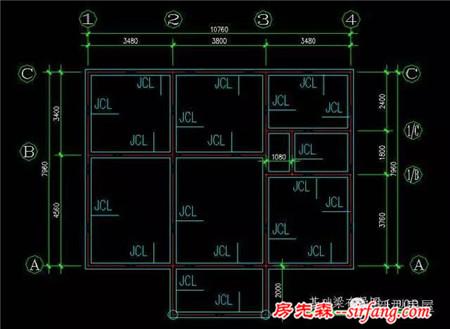 梯形100平房子設計圖