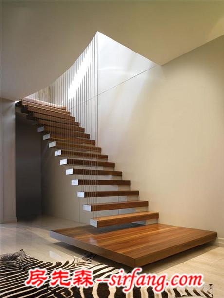 以下几款楼梯,容易使人联想到拨弦乐器竖琴,同时也营造出了一种古典图片