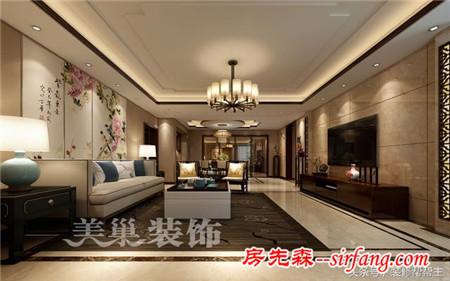 80万装修220平四室两厅,新中式档次真高